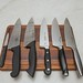 Kitchen knives on a cutting board
