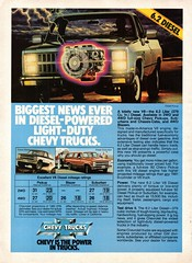1982 Chevrolet Blazer Suburban 6.2 Litre Diesel V8 2WD 4WD Wagon Pickup Truck USA Original Magazine Advertisement (Darren Marlow) Tags: 1 2 6 8 9 19 82 1982 c chev chevy chevrolet b blazer s suberban t truck w wagon p pickup d diesel car cool collectible collectors classic a automobile v vehicle g m gm general motors u us usa united states american america 80s