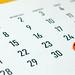 31th October. Halloween date marked on October 2019 calendar