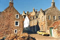 Crail (M McBey) Tags: crail fife scotland houses old harbour crowstepped gable street 1987 fishing port cobbled