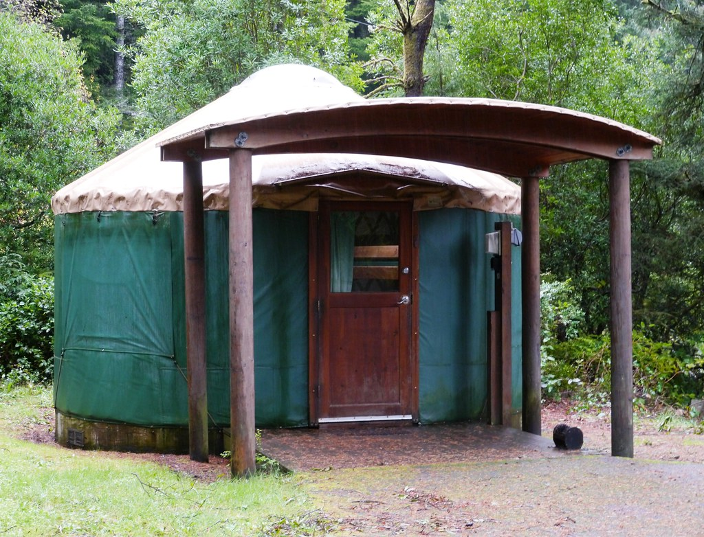 A Basic Yurt for rent in Umpqua Lighthouse State Park, Douglas County, Oregon