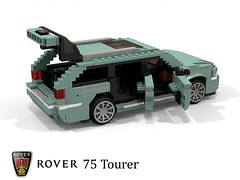Rover 75 Tourer (lego911) Tags: rover 75 estate tourer 2000s 2001 fwd wagon luxury family auto car moc model miniland lego lego911 ldd render cad povray uk gb british afol
