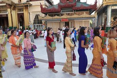 Ordination ceremony for novice Buddhist monks, Shwedagon Pagoda, Yangon (8) (Prof. Mortel) Tags: myanmar burma yangon rangoon buddhist pagoda shwedagon monks