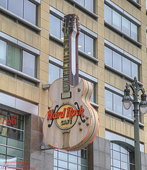 Long Live Rock (DetroitDerek Photography ( ALL RIGHTS RESERVED )) Tags: allrightsreserved 313 detroit motown downtown urban neon guitar hardrockcafe restaurant icon closing economy rent 2003 january 2019 detroitderek michigan midwest usa america hdr 3exp canon 5d mkii digital motorcity