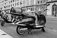 Motorcycle (sur_hp) Tags: vehicle street blackandwhite bw contrast monochrome