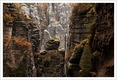 auf du und du mit Emir, Scheich und Suleika (Norbert Kaiser) Tags: sachsen saxony sächsischeschweiz saxonswitzerland elbsandsteingebirge elbesandstonemountains sandstein sandstone wandern wanderweg felsen kletterfelsen natur nature landschaft landscape
