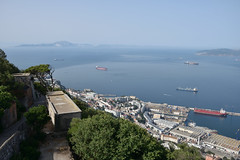 Gibraltar and View of Africa... (Last Border of the Picture) Tags: africa morocco gibraltar europe great britain united kingdom strait sea mediterranean ocean atlantic détroit boat view panoramic high sky rif upper far