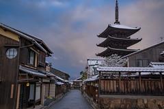 法観寺3・Hokanji Temple (anglo10) Tags: japan kyoto 京都府 東山 清水 雪 snow 建築物 architecture 寺院 temple 法観寺