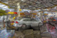 Food mart matrix (Jersey JJ) Tags: redfield umatrix plugin food mart rain rainy day gas station