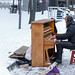 Street piano musician