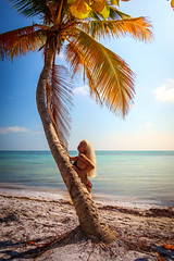 Winter in Key West (dannygreyton) Tags: keywest beach ocean sea woman bikini palmtree usa florida smathersbeach portrait blonde
