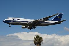 British Airways BOAC Retro Livery 747-436 (G-BYGC) LAX Approach 3 (hsckcwong) Tags: britishairways britishairwaysboacretrolivery boacretrolivery gbygc lax klax 747436 747400 744