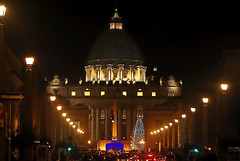 StPeters (Long Exposure Art (L~EX~A)) Tags: stpeters rome italy vaticancity travel christmasseason nikon nightshot cityscape