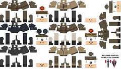 WW2-Free France & Vichy State leaders (Desert fox Customs) Tags: ww2 wwii lego custom decals templates minifig leaders french freefrench vichy state milice degaulle pétain uniform