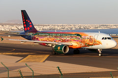 OO-SNF_01 (GH@BHD) Tags: oosnf airbus a320 a320200 a320214 sn bel brusselsairlines tomorrowland specialcolours logojet aircraft aviation airliner ace gcrr arrecifeairport arrecife lanzarote