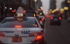 Evil Cab Two (Jovan Jimenez) Tags: 666 taxi cab canon eos rebel t2 hasselblad carl zeiss planar 80mm f28 lomography 800 35mm film evil city chicago 300x kiss7 arax tiltshift bokeh star lomo lights