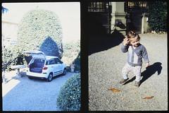 _RAK9735 (Daniele Pisani) Tags: olympus pen velvia50 costanza susanna baby sitter neve cani lea dylan macchina giardino half frame
