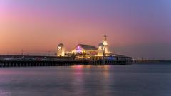 The toss of the coin DSC_4457 (BlueberryAsh) Tags: geelong lisa sunset cunninghampier ocean beach pier sky lights restaurant water reflection seascape pink nikond750 nikon24120