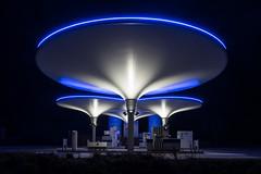 Gas Station (genf) Tags: tankstation gas station alkmaar nxt ufo blue light blauw licht avond nacht evening night sony a99ii sigma 24105 long exposure outdoor industry buiten industrie