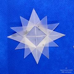 Star (Zsuzsanna Kricskovics) 2 (AnkaAlex) Tags: origami origamistar modularorigami paperfolding whitestar translucentpaper