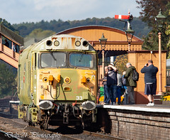 20181004-IMG_2512 (deltic21) Tags: severn valley railway svr severnvalley preserved preservation diesel power traction heritage classic transport wheel wheels motion loco locos locomotive train trains rail rails track tracks br british type class restored restoration moving railways trees outdoor outside nature bewdley kidderminster bridgenorth shropshire worcestershire midlands engine clag 50033 50 alliance glorious log hoover large logo ee english electric blue sunshine skies primer graffiti semaphore signals
