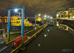 New Westminster BC (Arek Eych) Tags: canada britishcolumbia night nightime a7s highiso boat tugboat pier river fraserriver