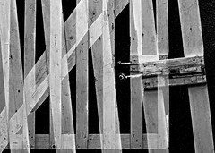 composition - 34 (Rino Alessandrini) Tags: architecture builtstructure woodmaterial constructionindustry nopeople blackandwhite architectureandbuildings outdoors buildingexterior old plank backgrounds pattern constructionframe concrete