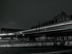 1.14.2019 On the curve (Kristine Runner) Tags: night blackandwhite bridge walkerspoint railroad