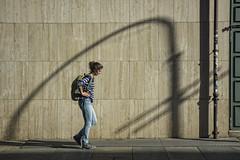 Italy - Turin - Shadows 01_DSC3888 (Darrell Godliman) Tags: italyturinshadows01dsc3888 shadow streetphotography street candid walking woman composition turin torino italy italia