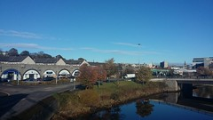 Riverside View, Aberdeen, Oct 2018 (allanmaciver) Tags: city aberdeen granite river dee trees blue shades arches clear day weather cold allanmaciver