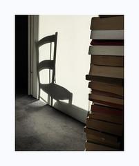 La chambre à l'est (hélène chantemerle) Tags: ombre chaise ceinture porte livres lumière shadow chair door books light indoor