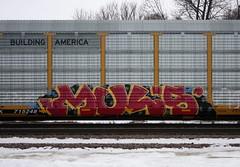MUL's (quiet-silence) Tags: graffiti graff freight fr8 train railroad railcar art mul madeulook autorack up unionpacific