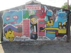 Cahors (chemin du cimetière) (bgential) Tags: mur peint mural fresque murale trompeloeil cahors