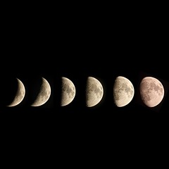 Moon Montage (Sarah and Simon Fisher) Tags: moon moonwatch lunar lunarseas craters astronomy astrophotography waxing gibbous crescent firstquarter montage canon 600d primefocus maksutov 127mm telescope night nightsky nightskyphotography worcestershire bromsgrove uk