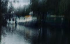Riverbank impressions (Zara.B) Tags: iphone intentionalcameramovement icm impression riverbank river abstract painterly walk houseboats atmospheric dark light slowshutterapp