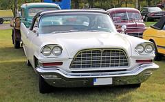 1957 Chrysler 300C (crusaderstgeorge) Tags: crusaderstgeorge cars classiccars americancars americanclassiccars americancarsinsweden 1957chrysler300c 1957 chrysler 300c whitecars chrome carmeet cool högbo sweden sverige