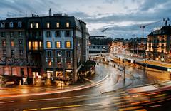 Rainy Evening III (helbldan) Tags: cityscape city zurich rain bluehour longexposure switzerland streets central nikon nikon20mm nikond750