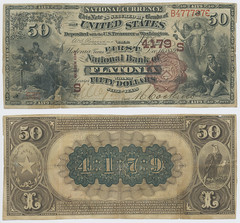 United States $50.00 (fifty dollars) national currency (SMU Libraries Digital Collections) Tags: texas money national us united states currency paper banks notes note banknote banknotes chartered bank banking fayette fayettecounty flatonia