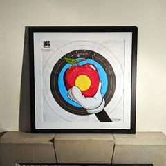 Do tell dear Willhelm (id-iom) Tags: idiom street urban art graffiti mickey mouse hand apple archery target shotgun blast william tell