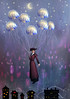 Spirited Away (Cat Girl 007) Tags: surreal surrealism whimsical balloons lift up carriedaway jellyfish rooftops mmmchallenge victorian woman fantasy night marypoppins