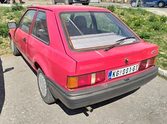 1987 Ford Escort 1.4 C (FromKG) Tags: ford escort 14 c red car kragujevac serbia 2019