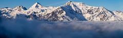 Petit matin à Hautacam (penelope64) Tags: pyrénées montagne mountain neige snow pic peaks sommet hautespyrénées france paysage landscape merdenuages panoramique panoramic olympusem1