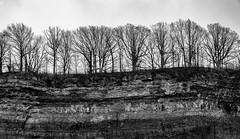 Edge of the world (rick miller foto) Tags: eosr 24105 canon cliff edge silhouette monochrome mono bw blackandwhite ontario gorge niagarafalls hiking niagaraglen niagara