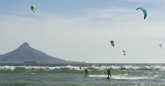 Kiting (Rob Millenaar) Tags: southafrica bloubergstrand dolphinbeach kitesurfing people