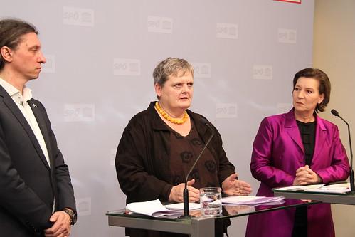 PK mit SPÖ-Frauensprecherin Gabriele Heinisch-Hosek zu Frauenmorden und Gewaltschutzpaket, 17.1.2019