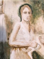 625 (Cheryl Gaer Barlow) Tags: woman kitchen portrait painting art paintings impressionistic figurative