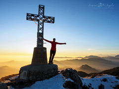 Freedom (Simona Baglio) Tags: sunset summit bluesky clear freedom solitude mountain rood winter january orobie prealpi bergamo lombardia italy cloudless olympus em5markii hiking explore alps alpine new year orange yellow landscape colors outdoor backlight sunlight silence