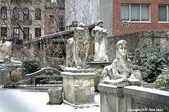 Winter In Narnia (Trish Mayo) Tags: winter snow art sculpture elizabethstreetgarden lion sphinx