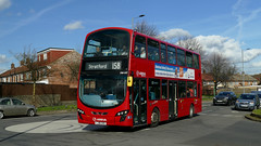 Arrivaing Back Into Higham Hill (londonbusexplorer) Tags: arriva london vdl db300 wrightbus gemini 2 dw497 lj61ckd 158 chingford mount stratford tfl buses