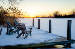 Waiting for Summer (Neil Cornwall) Tags: 2019 canada february ontario rivercanard snow winter ice river frozen sunset dock
